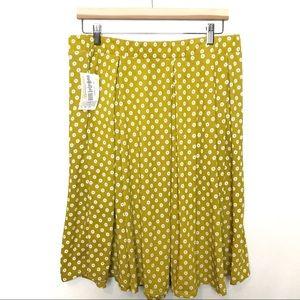 Lularoe Madison NWT Yellow Daisy Skirt Flowy XL
